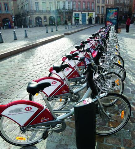 Les bornes de vélos en libreservice de Toulouse Métropole.